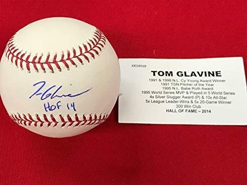 (Autographed Tom Glavine Ball - HOF Hidden treasures 11 42 - Tristar Productions Certified - Autographed Baseballs)