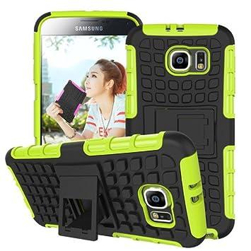 betterfon | Outdoor Handy Tasche Hybrid Case Schutz Hülle Panzer TPU Silikon Hard Cover Bumper für Samsung Galaxy S6 edge Grü
