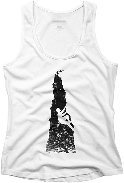 Escalada de la mujer espalda cruzada camiseta de tirantes ...