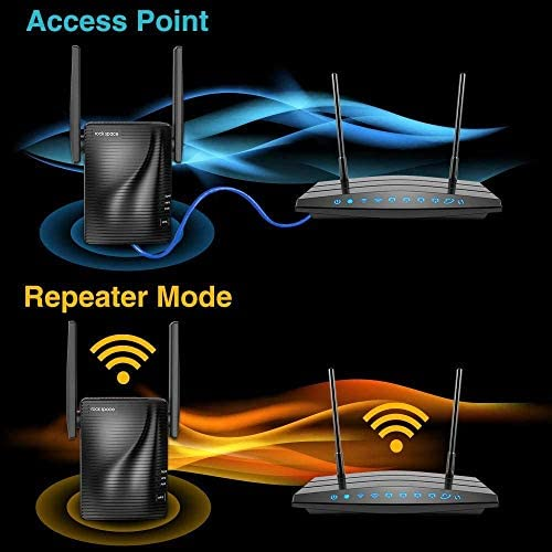 rockspace AC750 WiFi Repeater (750RPT)-733Mbps Dual Band WiFi Range Extender with WPS One Button Setup
