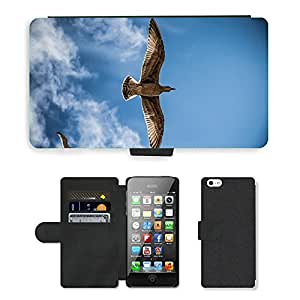 hello-mobile PU LEATHER case coque housse smartphone Flip bag Cover protection // M00136960 Sea Gull Pájaro Cielo Naturaleza // Apple iPhone 5 5S 5G