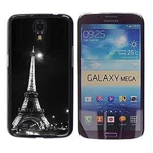 """For Samsung Galaxy Mega 6.3 , S-type Arquitectura Moonlight Blanco y Negro Eiffel"""" - Arte & diseño plástico duro Fundas Cover Cubre Hard Case Cover"""