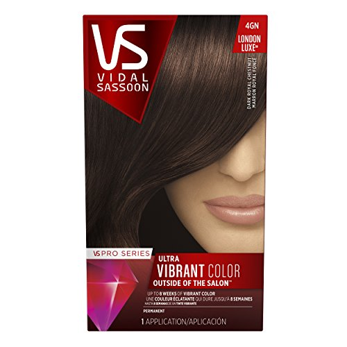 Vidal Sassoon  Pro Series London Luxe Hair Color Kit, 4GN Dark Royal Chestnut