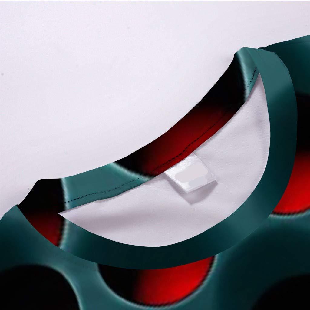 Dasongff Herren Druck T-Shirt 3D Muster Shirt Kurze /Ärmel Grafik Muskelshirt Spa/ß Motiv Tops Oversize Kurzarmshirt Sport Oberteile Print Unisex Basic Hemd Casual Sommer L/ässige