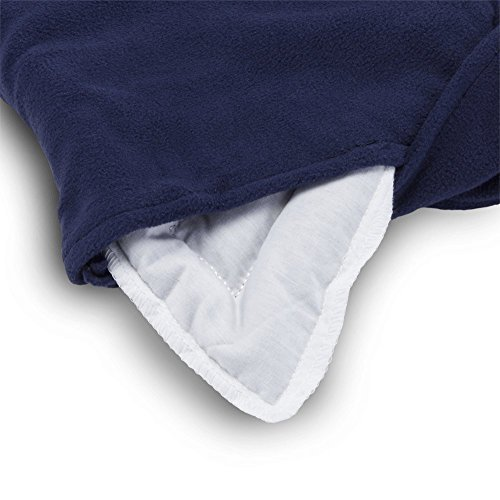 Sunny Bay Lavender-scented Shoulder and Upper Back Heat Wrap, Large, Navy blue (navy blue) by Sunny Bay (Image #2)
