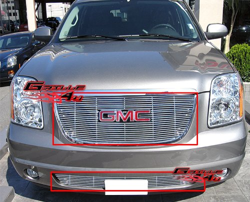 (APS Fits 2007-2013 GMC Yukon Billet Grille Grill Insert Combo #G67909A)