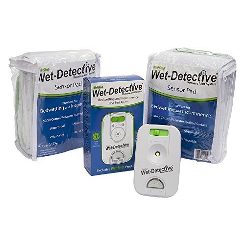 (Wet Detective Incontinence & Bedwetting Pad Alarm System with Two Sensor Pads by Wet-Stop)