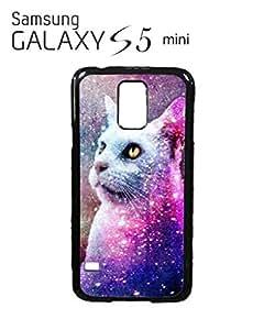 Galaxy Cat Grumpy Kitten Mobile Cell Phone Case Samsung Galaxy S5 Mini Black
