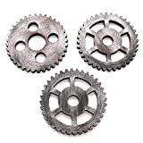 HUELE 3 Pcs Antique Steampunk Gear Wooden Wheel Home Bar Hanging Wall Decoration 4.7 Inch