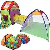 KIDUKU® Tenda Igloo per bambini con tunnel + 200 palline + borsa...