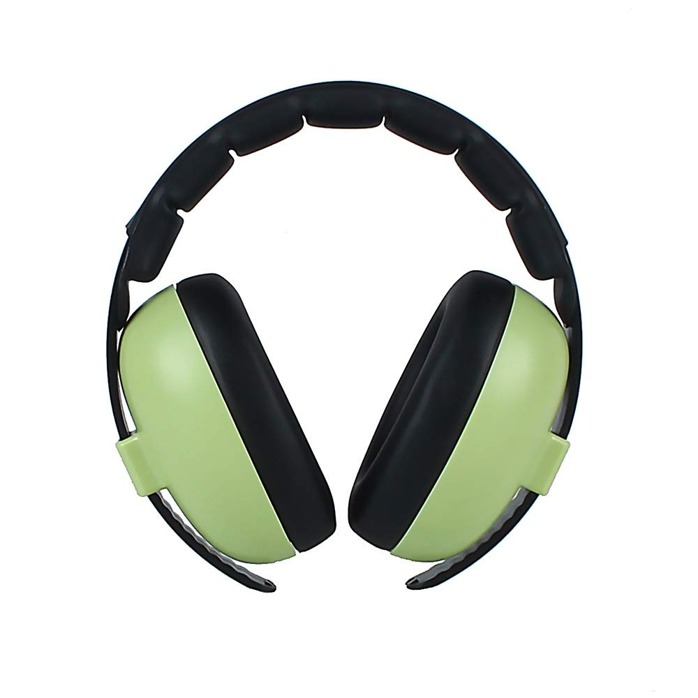 Comfortable Safety Ear Muffs, Baby Ear Protection Noise Cancelling Headphones for Babies for (Color : Green)