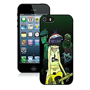 Hot Sale iPhone 5 5S Case ,Unique And Lovely Designed Gorillaz Cover Case For iPhone 5 5S Black Phone Case CR-259