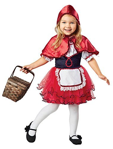 Seasons Direct Girls LIL Red Riding Hood Costume For Children (L(8-10)) -
