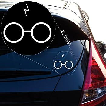 Harry Potter Inspired Glasses Lightning Bolt Scar Vinyl Decal Sticker