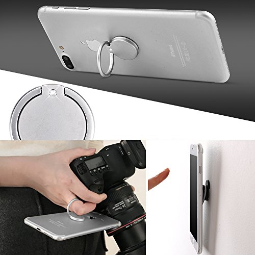 Large Product Image of Cell Phone Ring Holder Stand Finger Kickstand Loop Mount Stent 360° Rotary Safe Hand Grip Universal, 4 Packs Set Kickstand & Car Ring Hook Bracket for Iphone X 8 7 7Plus Samsung Galaxy S7 S8 LG HTC