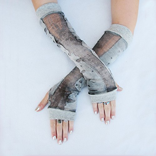 Zombie skin holey ripped gloves Arm -