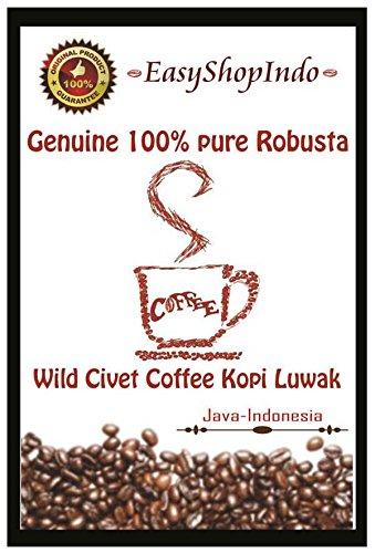 Genuine 100% Pure Robusta Wild Civet Coffee Kopi Luwak Java Fresh Roasted Beans 100g / 3.5oz