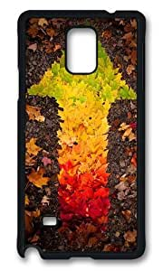 MOKSHOP Adorable autumn leaves arrow Hard Case Protective Shell Cell Phone Cover For Samsung Galaxy Note 4 - PCB