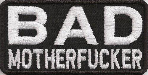 Bad Motherfucker Pulp Fiction Badass BFFB Biker Spruch Kutte Aufn/äher patch