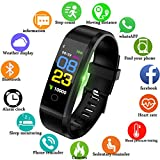 Fitness Trackers, Smart Watch Fitness Watch Activity Tracker, Pedometer Smart Bracelet Wristband with 24-Hour Heart Rate Monitor for Android and iOS Phones 0.96 inches Black