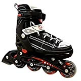 California Pro Dallas Performance Inline Adjustable roller Skates (1 UK - 3 UK)