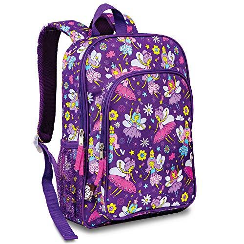 LONECONE Kids School Backpack for Boys and Girls - Sized for Kindergarten, Preschool - Bippity Boppity Backpack (Fairies)