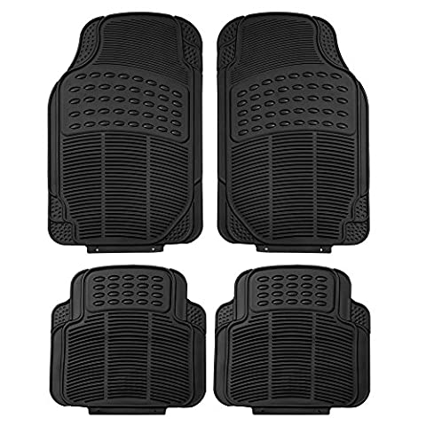 FH Group F11305BLACK Black All Weather Floor Mat, 4 Piece (Full Set Trimmable Heavy Duty) - 2005 Cadillac Cts