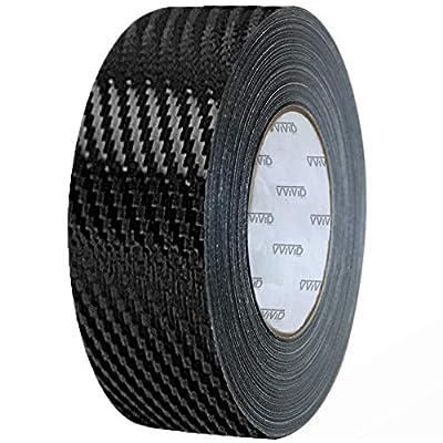 VViViD Dry Carbon Fibre Detailing Vinyl Wrap Tape 2 Inch x 20ft Roll DIY (Black): Automotive