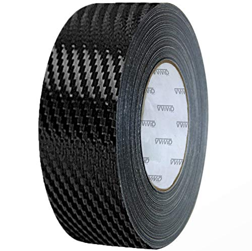 VViViD Dry Carbon Fibre Detailing Vinyl Wrap Tape 2 Inch x 20ft Roll DIY (Black) (Carbon Fiber Hood Stripe)