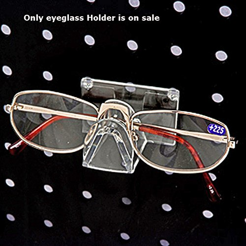 25 Piece New Retails Clear Molded Plastic Eyeglass Holder for Pegboard by Eyeglass Holder