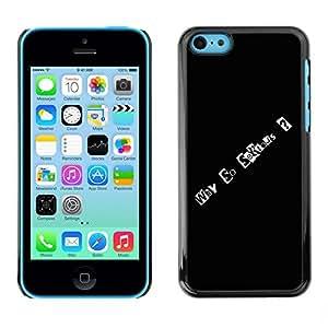TopCaseStore / la caja del caucho duro de la cubierta de protección de la piel - Why So Serious - Apple iPhone 5C