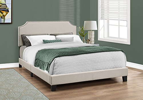 Beige Antique Bed - Monarch I 5926Q, Queen, Beige