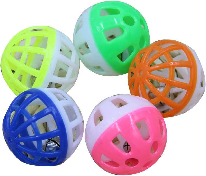 Xiton - Pelota de plástico Hueca Redonda para Mascotas y Gatos ...