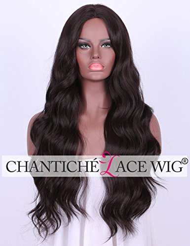 Chantiche Burgundy Synthetic Middle Parting