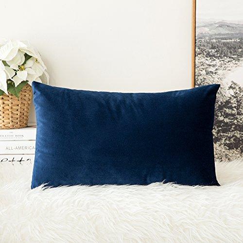 MIULEE Velvet Soft Soild Decorative Square Throw Pillow Cove