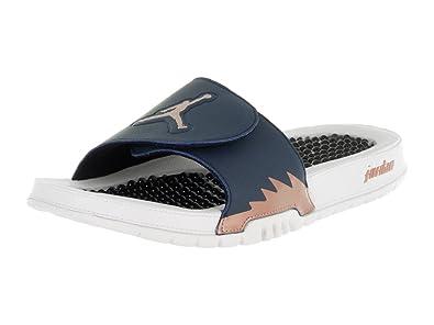 1807ea3892a3 Jordan Nike Maillot de Hydro V Rétro Sandal - Bleu - Obsidian/Metallic Red  Bronze
