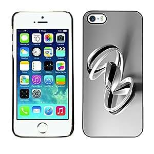 "For Apple iPhone 5 / 5S , S-type B & W Remolinos"" - Arte & diseño plástico duro Fundas Cover Cubre Hard Case Cover"