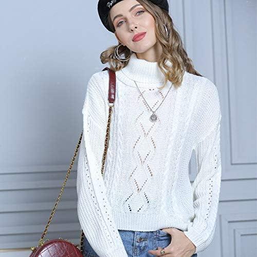 Women/'s Turtleneck Warm Autumn Winter Knitted Pullover Elastic Sweater Jumper
