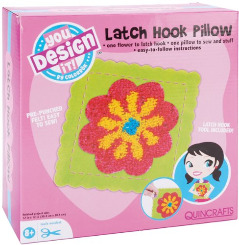 Colorbok You Design It Latch Hook Pillow Kit 59335