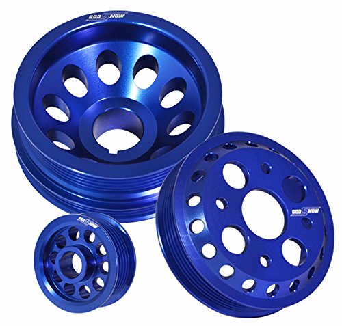 Performance Anodized Blue Aluminum Engine Pulley Wheel Kit For Nissan 350Z/Infiniti G35
