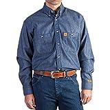 Kyпить Wrangler Men's Fire Resistant Work Shirt with Two Front Pockets, Denim, XX-Large на Amazon.com