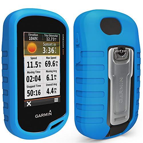 TUSITA Case for Garmin Oregon 600 600t 650 650t 700 750 750t - Silicone Protective Cover - Handheld GPS Accessories (Blue)