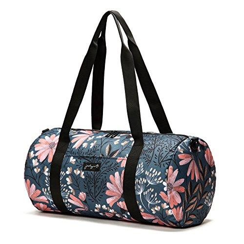 Jadyn B 19'' Barrel Women's Duffel Bag, Navy Floral by Jadyn B (Image #2)