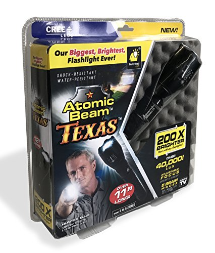 Atomic Beam Texas Tactical LED Flashlight by BulbHead, 40,000 Lux Output