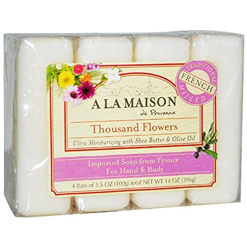 a la maison soap bars thousand flowers value pack 4