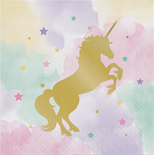 CSFOTO 8x8ft Background for Gold Unicorn Birthday Party Decor Photography Backdrop Water Color Starry Dreamy Happy Celebrations Ornament Kid Children Newborn Baby Photo Studio Props Wallpaper ()