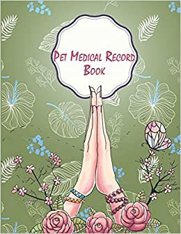 pet medical record book green cover record your pet health daily