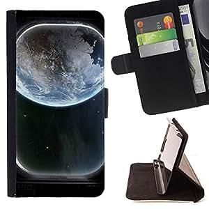 - Space Ship Window View/ Personalizada del estilo del dise???¡¯???¡Ào de la PU Caso de encargo del cuero del tir???¡¯????n del s - Cao - For Samsung Gala