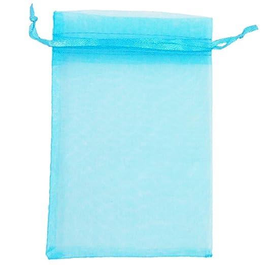 ATCG 50 bolsas de organza con cordón de 20 x 30 cm para ...