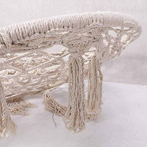 BEAMNOVA 265 lbs Capacity Hammock Chair with Hanging Hardware for Indoor Outdoor Beige by BEAMNOVA (Image #6)